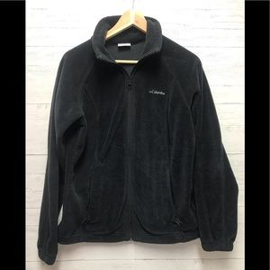 Columbia Medium Black Fleece Full Zip Jacket